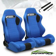 2 x Blue Pineapple Main&Black Side Left/Right Racing Seats  Adjustor Slider
