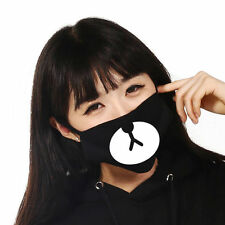 New Black Cycling Anti-Dust Healthy Cotton Cute Bear Mouth Face Mask Respirator