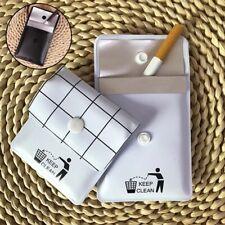 Portable Ashtray Pocket Smoking Cigar Tobacco Ash Storage Bag Fireproof Outdoor