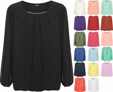 Polyester No Pattern Party Plus Size Tops & Shirts for Women