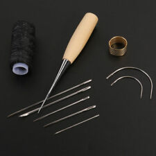 Leather Sewing Needles Stitching Needle Set Thread Thimbles Hand Sewing Tool