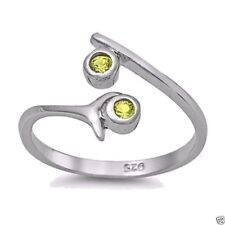 Usa Seller Adjustable Toe Ring Sterling Silver 925 Best Price Jewelry Peridot
