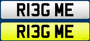 Ring Me!!  Number Plate R13G ME Private Number Plate
