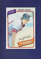Geoff Zahn 1980 TOPPS Baseball #113 (MINT) Minnesota Twins
