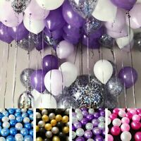 "30pcs 10"" Colorful Latex Balloons Pink Helium Birthday Wedding Hen Party Decor"