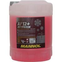 10 Liter MANNOL Kühlerfrostschutz Typ G12+ Antifreeze AF12+ (-40) rot red