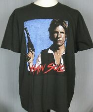 New Star Wars Han Solo Adult Small Retro Vintage Black T-Shirt ( S Chewbacca )