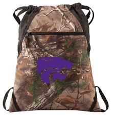 K-State Camo Cinch Pack REALTREE Kansas State Drawstring Bag KSU Backpack