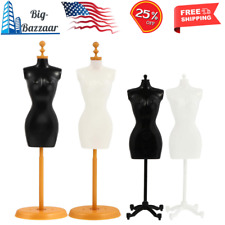 Doll Size Sewing Dressmakers Female Mannequin Torso Base Stand 4 Pcs New