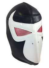 BANE (pro-fit) Wrestling Halloween Mask Lucha Libre - Black/White