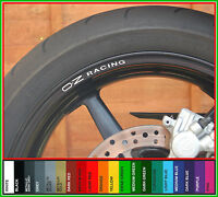 8 x OZ RACING Wheel Rim Decals Stickers - carbon lightweight magnesium 16.5 17 ""