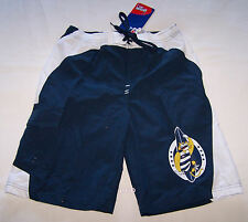 Geelong Cats AFL Boys Navy Blue White Printed Swimming Board Shorts Size 4 New
