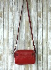 Longchamp 2.0 Red Two Tone Shoulder Crossbody Small Camera Zip Top Bag Purse
