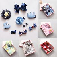 10Pcs Mix Styles Baby Kids Girls HairPin Hair Clips Jewelry Gift Box Headwear