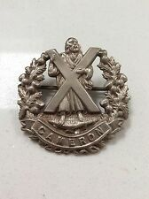 VINTAGE WW1 - CAMERON HIGHLANDERS - MILITARY CAP BADGE