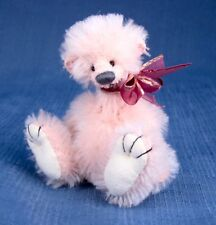 "Deb Canham "" Flump Who"" Light Pink Mohair Miniature Bear 3 3/4"" Jointed"
