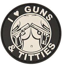 "AC-130G: Lancer Tactical ""I LOVE GUNS & TITTIES"" PVC PATCH (BW)"