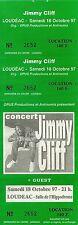 RARE / TICKET DE CONCERT - JIMMY CLIFF LIVE A LOUDEAC JUIN 1997