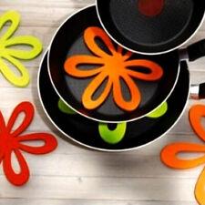 6pcs Cloth Flower Trivet Pot Pan Holder Mat Pad Non-slip Heat UK Resistant. E0R2