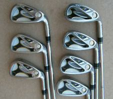 TAYLORMADE R7 DRAW IRONS IRON SET 4-PW STIFF FLEX STEEL SHAFT GOLF CLUBS RH
