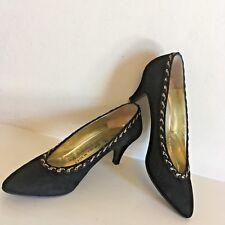 BRUNO MAGLI Black Suede Court Shoes Womens UK 2.5 EU 35.5