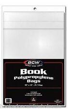 5 Packs (500) BCW 10 x 13 Book Bags Holders Sleeves