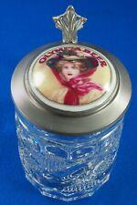 Rare Olympia Beer Glass Stein Mug Metal Lid with Woman Zinn Rastal Germany