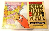 Vintage Rand McNally United States Map Puzzle Selchow & Righter Co #519 Complete