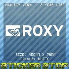 ROXY VINYL DECAL/STICKER (40cm, White)  WINDOW, CAR STICKER, SURFING, SURF