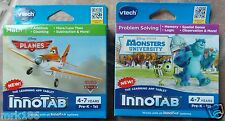 Lot of 2 Vtech Innotab Learning App Tablet Games ~ NEW Ages 4-7 Planes Monsters