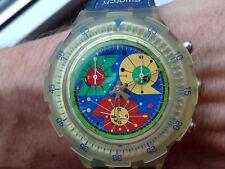 Swatch VINTAGE(2000) NOS WATCH Aquachrono SBK120L Paradiso Perdido Large MONTRE
