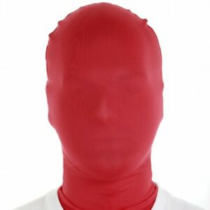 RED Morph Masks Halloween Football Halloween Morphsuits Fancy Dress RRP £15