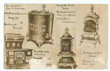 Olney, IL Illinois 1910 RPPC Advertising Postcard, Four Stoves, Cook Stove