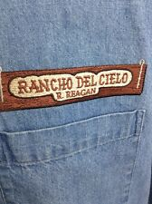 Ronald Reagan Ranch Denim Shirt - XL Ranch Del Cielo California