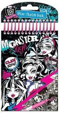 Monster High Mini Boceto Libro Para Colorear set pegatinas, Bolsa de sorpresas