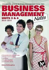 Business Management Notes VCE Units 3 and 4 by Debra McNaughton (Paperback,...