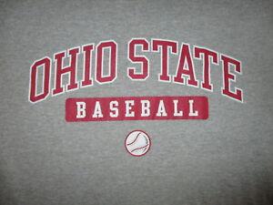 OHIO STATE BUCKEYES BASEBALL T SHIRT Team OSU Heather Gray CHAMPION Sportswear M