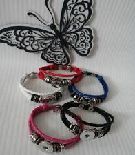 Leather Alloy Bangle Costume Bracelets