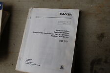 WACKER RD11V RIDE-ON COMPACTOR ROLLER Parts Manual Book List catalog spare 2005