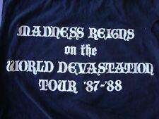 1987 Savatage Madness Reigns On World Devastation Tour Hall Mountain King Shirt