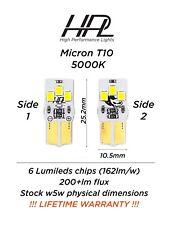 2x SuperBright 4000K genuine philips chip LED bulb 194 168 W5W LIFETIME warranty