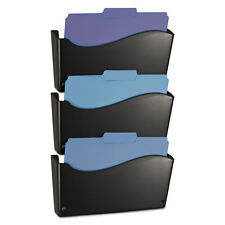 Officemate 2200 Series Wall File System Letter Black 3/Pack 22382