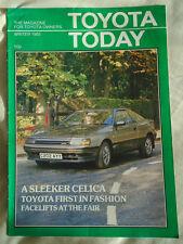 Toyota Today magazine brochure Winter 1985