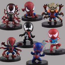 Rare !!! 7 pcs Set Marvel Spider-Man 2.5'' Mini collectibles Figures Toys X'mas