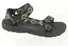 Teva Terra Traditional Sandals Mens Sz 9 Black Hiking Strappy Water Sport Shoes