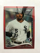 2014 Topps Chrome Red #43 Marcus Semien Rookie Card RC (23/25)