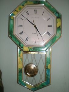 LONDON CLOCK Co OCTAGONAL WALL CLOCK QUARTZ BATTERY MOVEMENT GOOD TIMEKEEPER