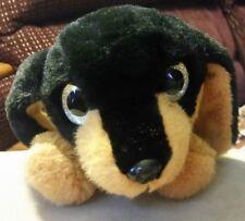 Big Eyes Dachshund Doxie Sausage Dog Plush Zippered Puppy Purse Pencil Case Bag