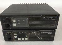 lot of 2 MOTOROLA Radius Radios, D51LRA9734BK & D43LRA73A5BK   parts or repair