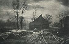 Leonard Misonne 1870-1943 pictorialist study At Sunset 1905